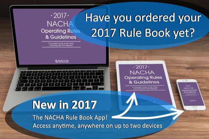 NACHA Rule Book app slide