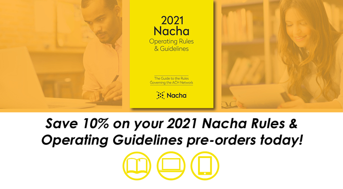 Save 10% on Your Nacha Rules Pre-Orders Today!