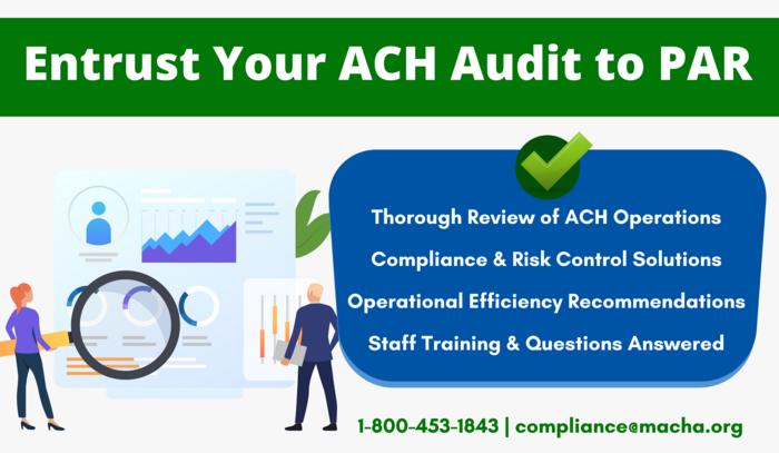 Have PAR Conduct Your ACH Audit